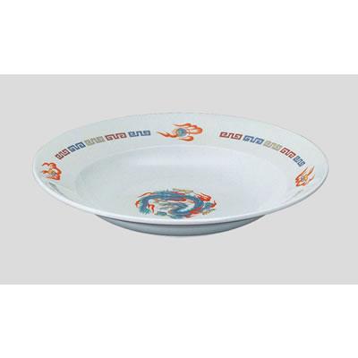 Daiwa|プラスチック食器|メラミン製|中華|社員食堂|学食|飲食店 10個セット/10個以上端数注文可 スープ皿 龍(Φ234×H38mm・330ml) (台和)[CD-5-R]
