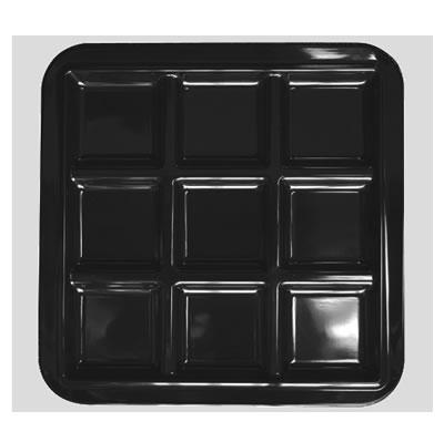 送料無料 Daiwa|プラスチック食器|メラミン製|業務用食器|皿|食堂|飲食店 10個セット/10個以上端数注文可 キュウプレート 黒(273×273×H20mm) (台和)[CH-9-BK]