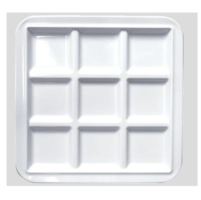 送料無料 Daiwa|プラスチック食器|メラミン製|業務用食器|皿|食堂|飲食店 10個セット/10個以上端数注文可 キュウプレート 白(273×273×H20mm) (台和)[CH-9-W]