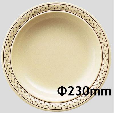 送料無料 Daiwa|プラスチック食器|メラミン製|業務用食器|社員食堂|学食|飲食店 10個セット/10個以上端数注文可 スープ皿 クローバー(Φ230×H38mm) (台和)[CL-5-C]