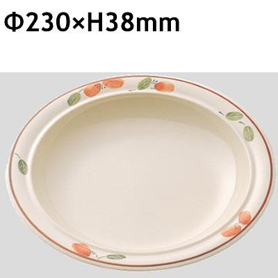 送料無料 Daiwa|プラスチック食器|メラミン製|業務用食器|社員食堂|学食|飲食店 10個セット/10個以上端数注文可 スープ皿 里香(Φ230×H38mm) (台和)[CL-5-RK]