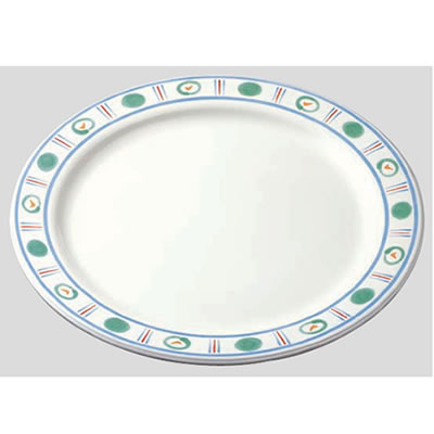 送料無料 Daiwa|プラスチック食器|メラミン製|業務用食器|食堂|飲食店 10個セット/10個以上端数注文可 ディナー皿 アジュール(Φ260×H24mm) (台和)[DY-100-AJ]