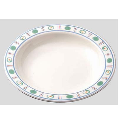 送料無料 Daiwa|プラスチック食器|メラミン製|業務用食器|食堂|飲食店 10個セット/10個以上端数注文可 スープ皿 アジュール(Φ230×H38mm・600ml) (台和)[DY-102-AJ]