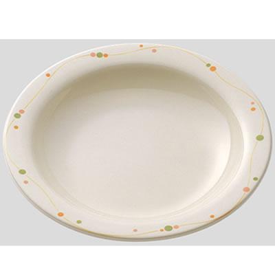 【送料無料】【Daiwa|プラスチック食器|メラミン製|業務用食器|食堂|飲食店】【10個セット/10個以上端数注文可】スープ皿 パールドロップ(Φ230×H38mm・600ml) (台和)[DY-102-PD]