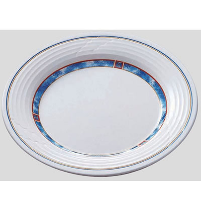 Daiwa|プラスチック食器|メラミン製|業務用食器|社員食堂|学食|飲食店 10個セット/10個以上端数注文可 ミート皿23cm パレス(Φ230×H25mm) (台和)[ED-230-PA]