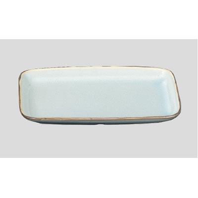 送料無料 Daiwa|強化磁器食器|和食器|業務用食器|飲食店|カフェ|施設 10個セット/10個以上端数注文可 角皿 銀彩(190×119×H19mm) (台和)[HC-61-GNS]