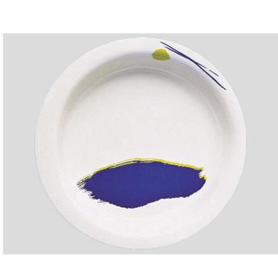 【送料無料】【Daiwa|プラスチック食器|メラミン製|介護・自助食器|病院|施設】【10個セット/10個以上端数注文可】主菜皿・大 セレナーデ(Φ215×H35mm・640ml) (台和)[HS-100-SE]