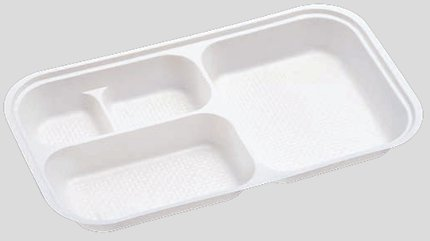 送料無料 Daiwa|弁当箱用仕切|使い捨て|宅配容器|業務用 4つ仕切 M-10用仕切 (入数:2,000) (台和)[M-10-2]