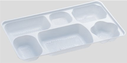 送料無料 Daiwa|弁当箱用仕切|使い捨て|宅配容器|業務用 6つ仕切 M-2000用仕切 (入数:2,400) (台和)[M-2000-2]