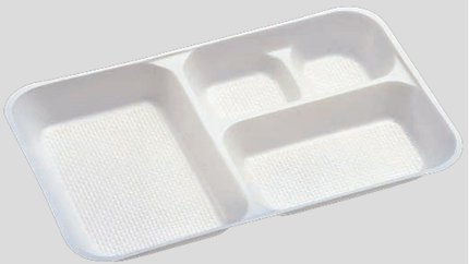送料無料 Daiwa|弁当箱用仕切|使い捨て|宅配容器|業務用 4つ仕切 M-3用仕切 (入数:3,600) (台和)[M-3-1]