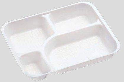 送料無料 Daiwa|弁当箱用仕切|使い捨て|宅配容器|業務用 4つ仕切 M-6用仕切 (入数:4,000) (台和)[M-6-1]
