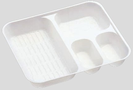 送料無料 Daiwa|弁当箱用仕切|使い捨て|宅配容器|業務用 4つ仕切 M-6用仕切 (入数:4,000) (台和)[M-6-2]