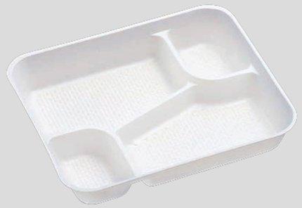 送料無料 Daiwa|弁当箱用仕切|使い捨て|宅配容器|業務用 4つ仕切 M-6用仕切 (入数:4,000) (台和)[M-6-5]