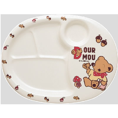※10個セット※メラミン子供用食器 デュールームー ランチ皿 (320×245×22mm) Daiwa(台和)[MC-31-DM] 業務用 プラスチック製 保育園・幼稚園向け