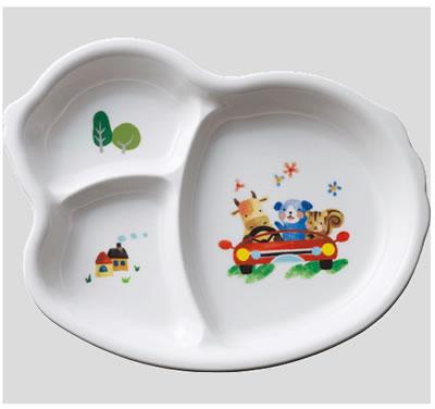 ※10個セット※メラミン子供用食器 フェアリーランド ひよこプレート (222×176×28mm) Daiwa(台和)[MC-45-FL] 業務用 プラスチック製 保育園・幼稚園向け