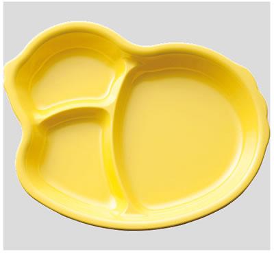※10個セット※メラミン子供用食器 ひよこプレート レモンイエロー (222×176×28mm) Daiwa(台和)[MC-45-LE] 業務用 プラスチック製 保育園・幼稚園向け