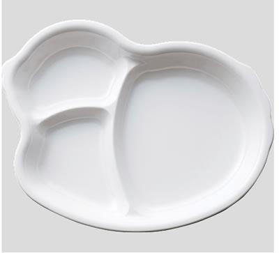 ※10個セット※メラミン子供用食器 ひよこプレート 白 (222×176×28mm) Daiwa(台和)[MC-45-W] 業務用 プラスチック製 保育園・幼稚園向け