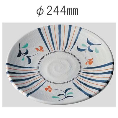送料無料 Daiwa|プラスチック食器|メラミン製|業務用食器|社員食堂|学食|飲食店 10個セット/10個以上端数注文可 高台和皿・24cm 小花(Φ267×H41mm) (台和)[MD-45-K]