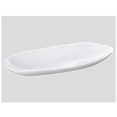 送料無料 Daiwa プラスチック食器 メラミン製 業務用食器 社員食堂 学食 飲食店 10個セット/10個以上端数注文可 もてなし鉢・中 白(321×136×H44mm) (台和)[MDM-2-W]