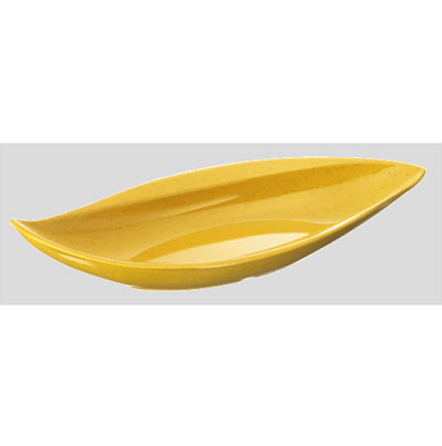 送料無料 Daiwa|プラスチック食器|メラミン製|業務用|皿|食堂|飲食店 10個セット/10個以上端数注文可 ウィンリーフプレート カラシ(354×162×H63mm) (台和)[MDM-6-KR]