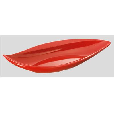 送料無料 Daiwa|プラスチック食器|メラミン製|業務用|皿 10個セット/10個以上端数注文可 ウィンリーフプレート 赤マーブル(354×162×H63mm) (台和)[MDM-6-R]