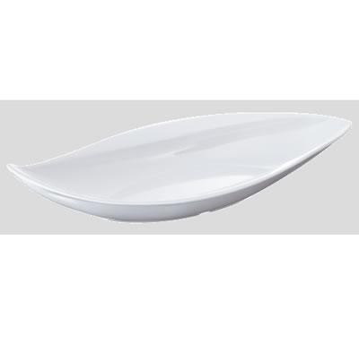 送料無料 Daiwa|プラスチック食器|メラミン製|業務用食器|皿|食堂|飲食店 10個セット/10個以上端数注文可 ウィンリーフプレート 白(354×162×H63mm) (台和)[MDM-6-W]