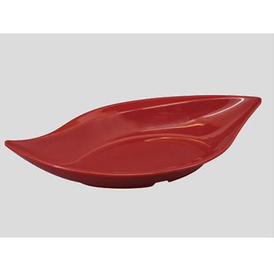 送料無料 Daiwa|プラスチック食器|メラミン製|業務用|皿 10個セット/10個以上端数注文可 ワイドリーフプレート 赤マーブル(315×174×H63mm・620ml) (台和)[MDM-96-R]