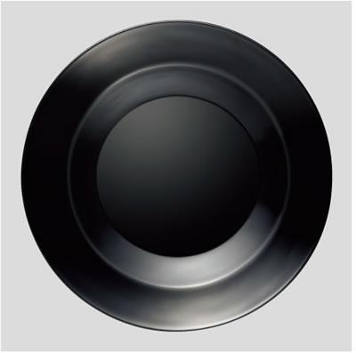 送料無料 Daiwa|プラスチック食器|耐熱ABS|業務用食器|食器洗浄機対応 10個セット/10個以上端数注文可 23cm丸皿 黒(Ф228×H36mm) (台和)[ND-228-BK]