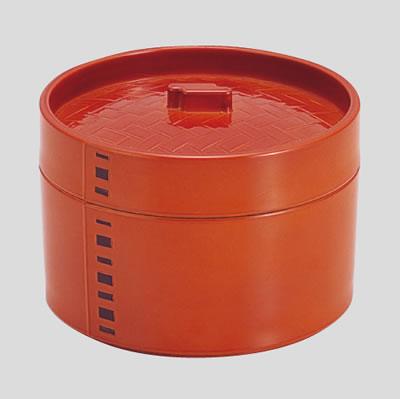 送料無料 Daiwa|中華|飲食店|蒸し器|セイロ|プラスチック製 10点セット 蒸しセイロ(目皿付) 春慶(Ф130×H92mm) (台和)[ND-364]
