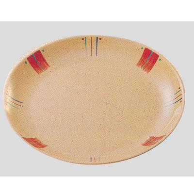 送料無料 Daiwa|プラスチック食器|メラミン製|業務用食器|社員食堂|学食|飲食店 10個セット/10個以上端数注文可 メタ皿 マリチーク(Φ234×H30mm) (台和)[OD-10-MR]