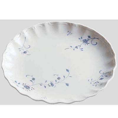 送料無料 Daiwa|プラスチック食器|メラミン製|業務用食器|大皿|バイキング 10個セット/10個以上端数注文可 オードブル・小 ブルーメ(Φ360×H38mm) (台和)[RD-10-B]