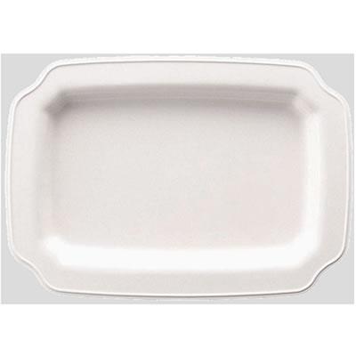 【送料無料】【Daiwa|プラスチック食器|メラミン製|皿|大皿|バイキング】【10個セット/10個以上端数注文可】ランチプレート・大 リーフ(445×312×H38mm) (台和)[RD-14-L]