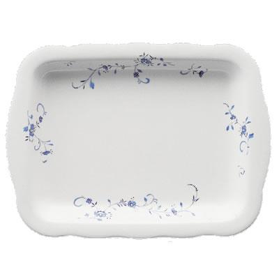 送料無料 Daiwa|プラスチック食器|メラミン製|業務用|皿|大皿|バイキング 10個セット/10個以上端数注文可 デリカプレート ブルーメ(425×314×H40mm) (台和)[RD-18-B]