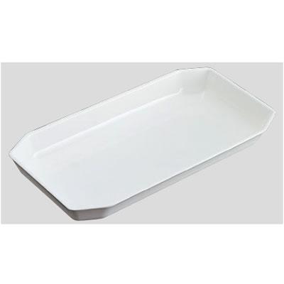 送料無料 Daiwa|プラスチック食器|メラミン製|業務用食器|大皿|バイキング 10個セット/10個以上端数注文可 デリファン アイボリー(405×201×H53mm) (台和)[SH-3]