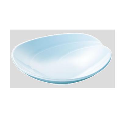 Daiwa|プラスチック食器|メラミン製|業務用食器|社員食堂|学食|飲食店 10個セット/10個以上端数注文可 空の葉皿・大 空色(193×191×H53mm) (台和)[SJ-1-SK]