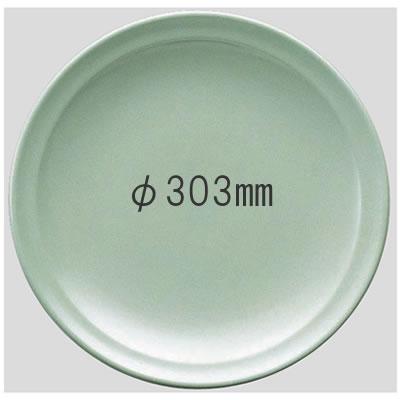 送料無料 Daiwa|プラスチック食器|メラミン製|業務用食器|大皿|バイキング 10個セット/10個以上端数注文可 高台和皿・30cm 青磁(Φ303×H42mm) (台和)[SM-310-S]