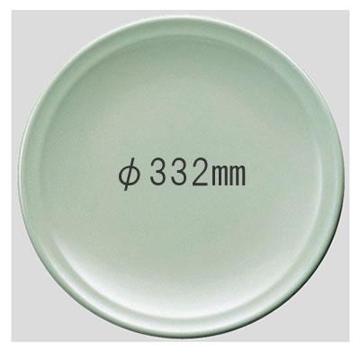 送料無料 Daiwa|プラスチック食器|メラミン製|業務用食器|大皿|バイキング 10個セット/10個以上端数注文可 高台和皿・33cm 青磁(Φ332×H46mm) (台和)[SM-311-S]
