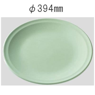 送料無料 Daiwa|プラスチック食器|メラミン製|業務用食器|大皿|バイキング 10個セット/10個以上端数注文可 高台和皿・39cm 青磁(Φ394×H55mm) (台和)[SM-313-S]