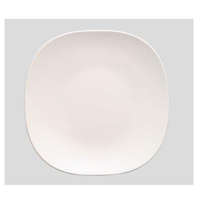送料無料 Daiwa|プラスチック食器|メラミン製|業務用食器|皿|食堂|飲食店 10個セット/10個以上端数注文可 26cmスクウェアプレート 白(Φ265×H27mm) (台和)[SS-10-W]