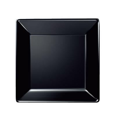 Daiwa|プラスチック食器|メラミン製|業務用食器|社員食堂|学食|飲食店 10個セット/10個以上端数注文可 スクウェアスープ皿 黒(210×210×H37mm) (台和)[SS-11-BK]