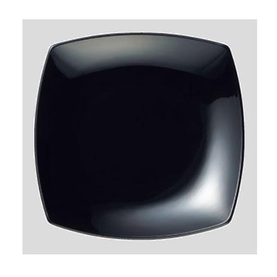 Daiwa|プラスチック食器|メラミン製|業務用食器|社員食堂|学食|飲食店 10個セット/10個以上端数注文可 菜津味菜皿 黒(209×209×H28mm) (台和)[SS-21-BK]
