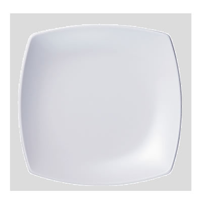 Daiwa|プラスチック食器|メラミン製|業務用食器|社員食堂|学食|飲食店 10個セット/10個以上端数注文可 菜津味菜皿 白(209×209×H28mm) (台和)[SS-21-W]