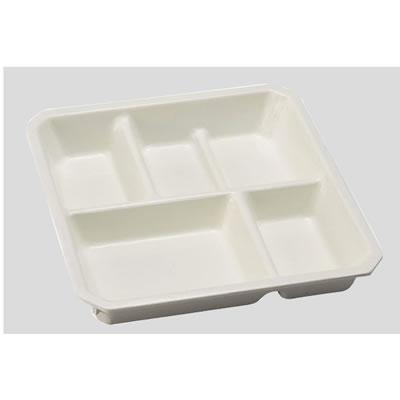 送料無料 Daiwa|プラスチック食器|メラミン製 10点セット Sプレート(7.5寸スタック松花堂中仕切) アイボリー(202×202×H57mm) (台和)[SS-30-IV]