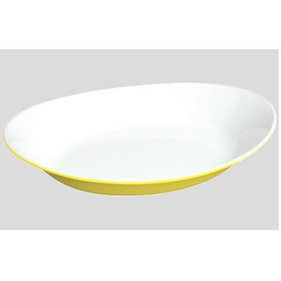 送料無料 Daiwa|プラスチック食器|メラミン製|業務用|皿 10個セット/10個以上端数注文可 オーバルプレート レモンホワイト(255×182×H47mm) (台和)[SS-910-LEW]