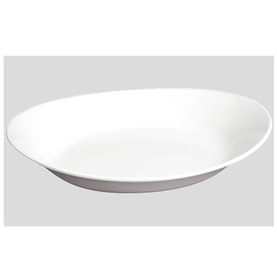 送料無料 Daiwa プラスチック食器 メラミン製 業務用食器 皿 食堂 飲食店 10個セット/10個以上端数注文可 オーバルプレート 白(255×182×H47mm) (台和)[SS-910-W]