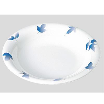 Daiwa|プラスチック食器|メラミン製|業務用食器|食堂|飲食店 10個セット/10個以上端数注文可 スープ皿 ガーデンバリエ・蒼 (Φ230×H38mm・650ml) (台和)[TI-501-VAB]