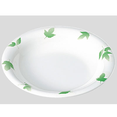 Daiwa|プラスチック食器|メラミン製|業務用食器|食堂|飲食店 10個セット/10個以上端数注文可 スープ皿 ガーデンバリエ・グリーン(Φ230×H38mm・650ml) (台和)[TI-501-VAG]