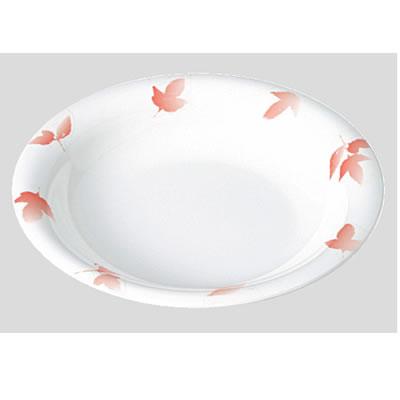 Daiwa|プラスチック食器|メラミン製|業務用食器|食堂|飲食店 10個セット/10個以上端数注文可 スープ皿 ガーデンバリエ・朱(Φ230×H38mm・650ml) (台和)[TI-501-VAR]