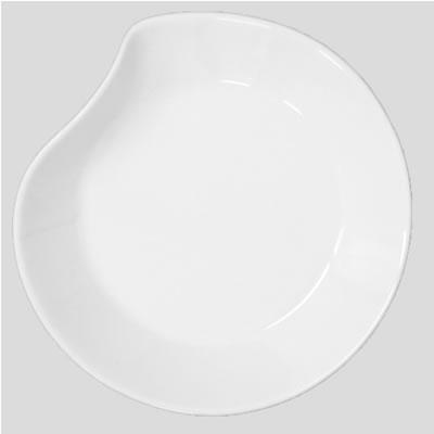 送料無料 Daiwa|磁器製|皿・プレート|食堂|飲食店|カフェ|レストラン 10個セット/10個以上端数注文可 20cmドリッププレート 白(202×185×H23mm) (台和)[YC-1603-W]