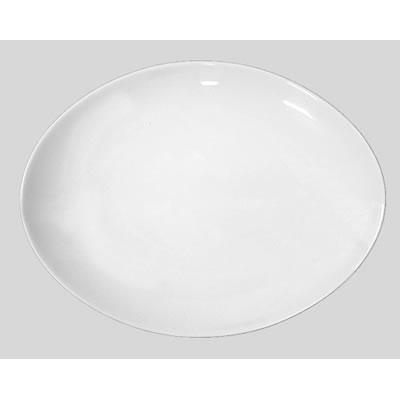 送料無料 Daiwa|磁器製|皿・プレート|食堂|飲食店|カフェ|レストラン 10個セット/10個以上端数注文可 23cmパーティプレート 白(236×161×H34mm) (台和)[YC-1674-W]